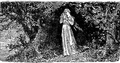 Ayant replacé la terre et les feuilles sur le corps, elle partit, emportant  la tête et une branche de jasmin sauvage qui poussait au pied du tilleul. 44d7c029348