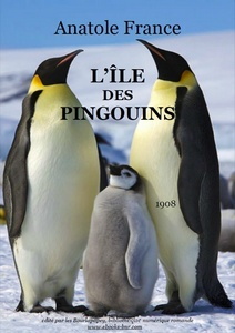 L'Île des Pingouins - Anatole France - Bibliothèque numérique romande - photo Two adult Emperor Penguins with a juvenile on Snow Hill Island, Antarctica, Ian Duffy